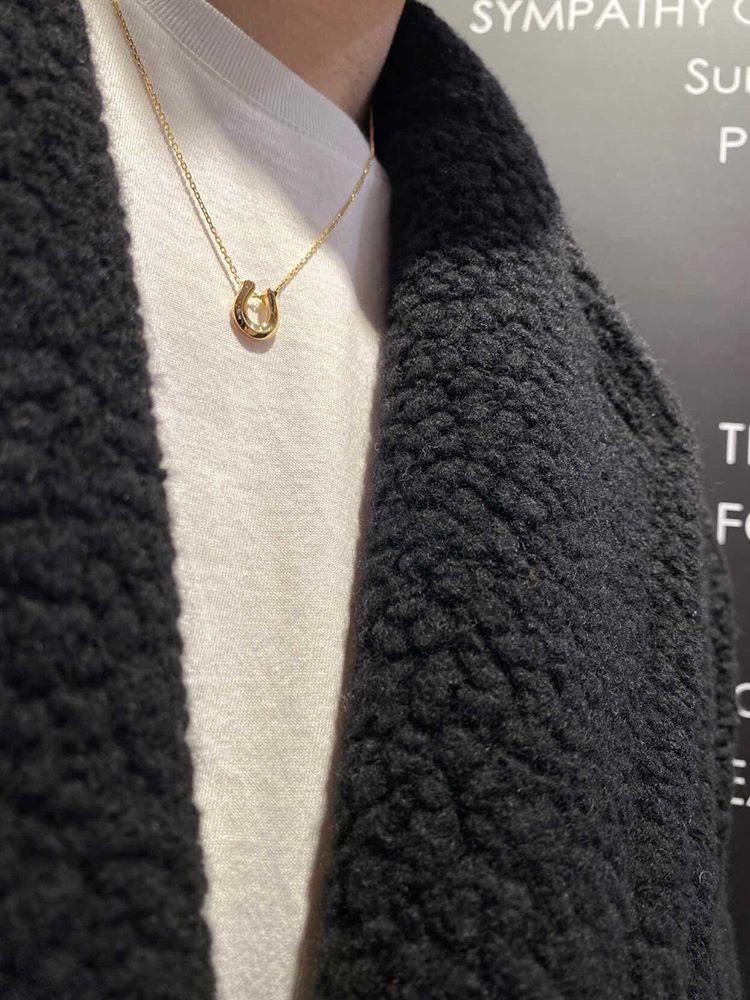 シンパシーオブソウル クリスマスモデル SENSE掲載 リッジホースシュー ネックレス シルバー 18金