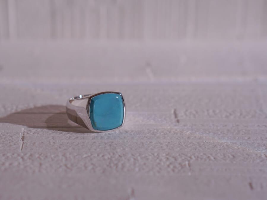 TOMWOOD トムウッド Cushion Turquoise Ring クッションターコイズリング Silver シルバー