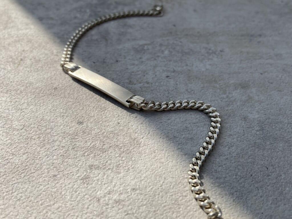 Narrow ID Chain Bracelet チェーンブレスレット シルバー B2004S シンパシーオブソウル
