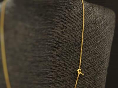 シンパシーオブソウル クラシックチェーンネックレス ナロー ホースシュー K24 24金 2020春夏