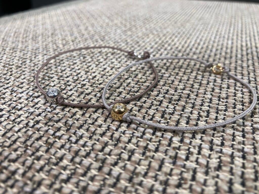 One LG Diamond Bracelet SV K18YG 合成ダイヤモンド シルバー 18金 ラブラトリーグロウンダイヤモンド ブレスレット ペアブレスレット
