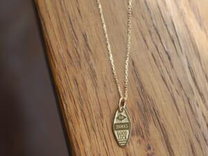 SYMPATHY OF SOUL シンパシーオブソウル Small Charm Necklace - Motel Keyholder - K18Yellow Gold スモールチャームネックレス - モーテルキーホルダー - K18イエローゴールド