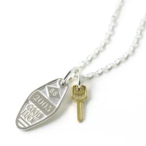 SYMPATHY OF SOUL シンパシーオブソウル Motel Key Necklace モーテルキーネックレス シルバー 18金