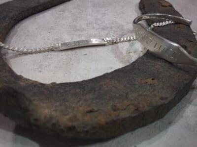 ID Bangle Narrow ID Chain Bracelet Engraved GOOD LUCK グッドラック シンパシーオブソウル