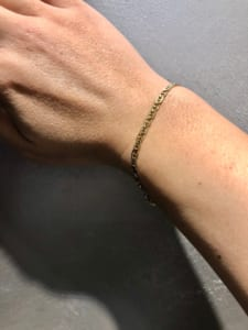 Gold Jewelry from NEW YORK マリーナチェーンブレスレット 着用