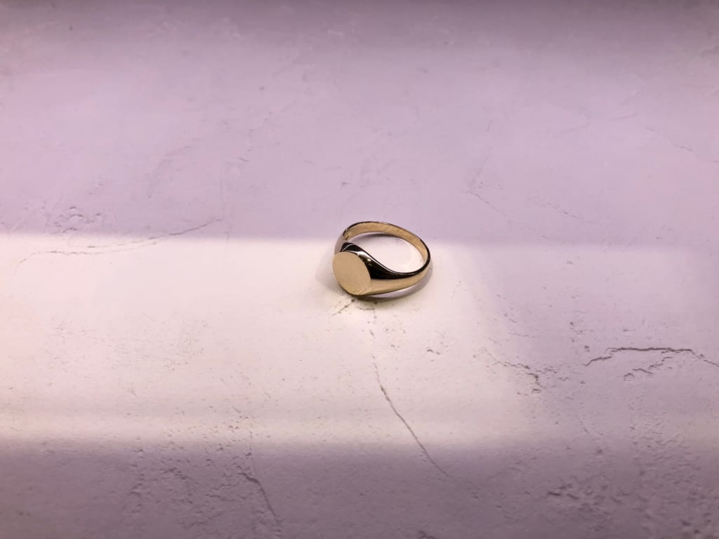 Gold jewelry from New York ring