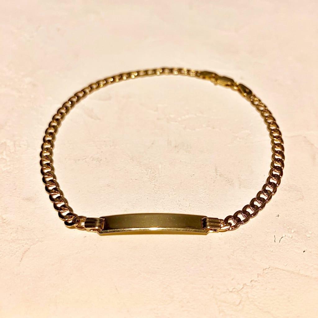 Gold Jewelry from NEW YORK ID Bracelet