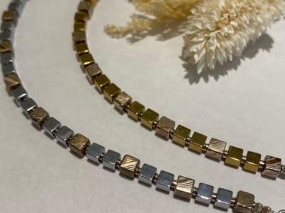 MOKUME Cube Beads Blacelet