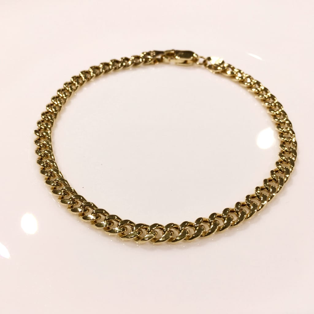 Gold Jewelry from NEW YORK curb chain B 3