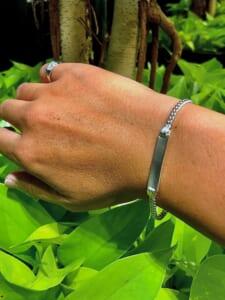 Silver chain bracelet 3