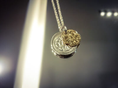 B.C. Coin Necklace/Hope Sun Silver×K18 Yellow Gold