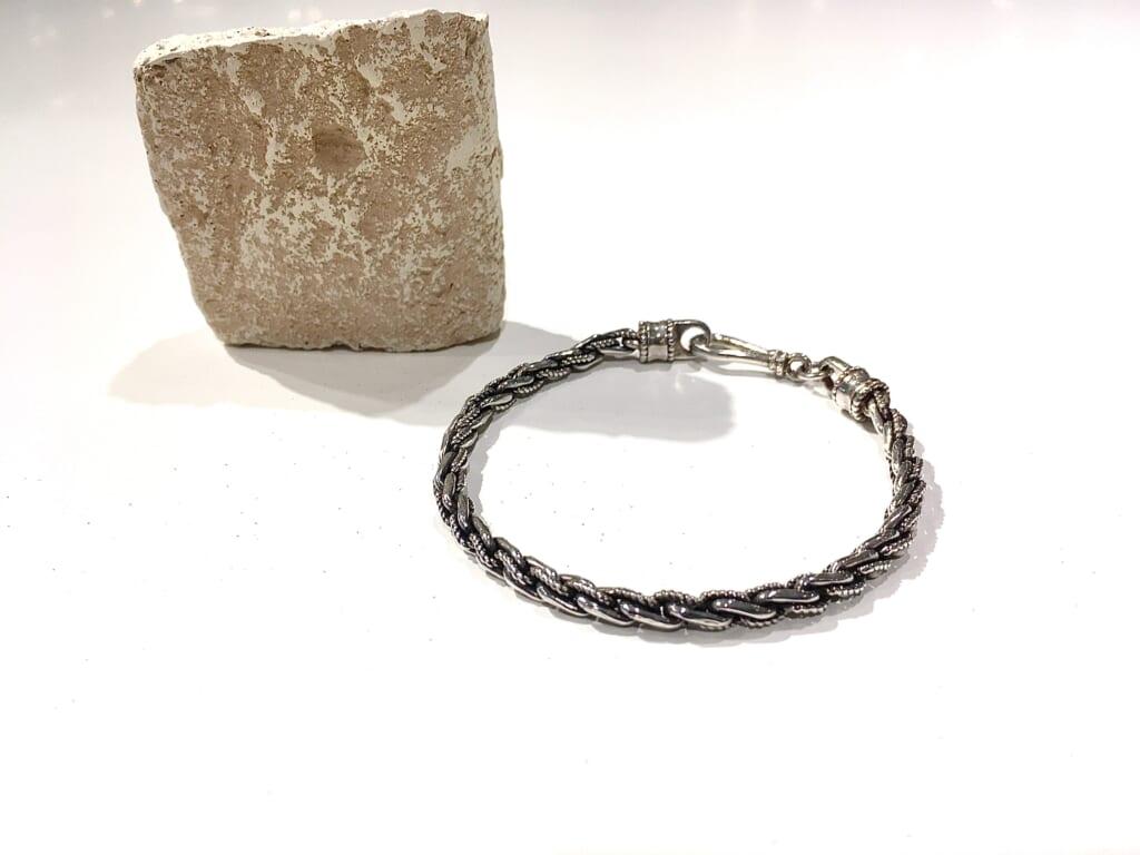 Silver chain bracelet 1