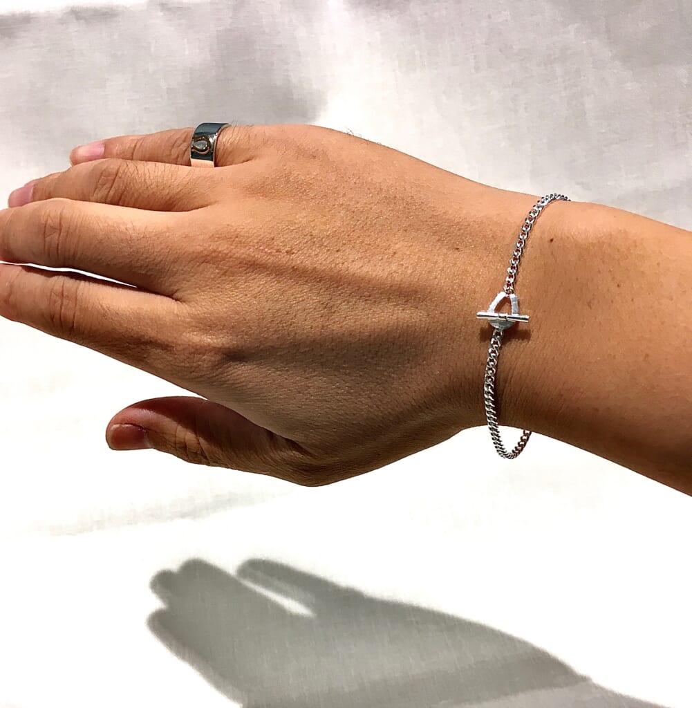 Silver chain bracelet 2