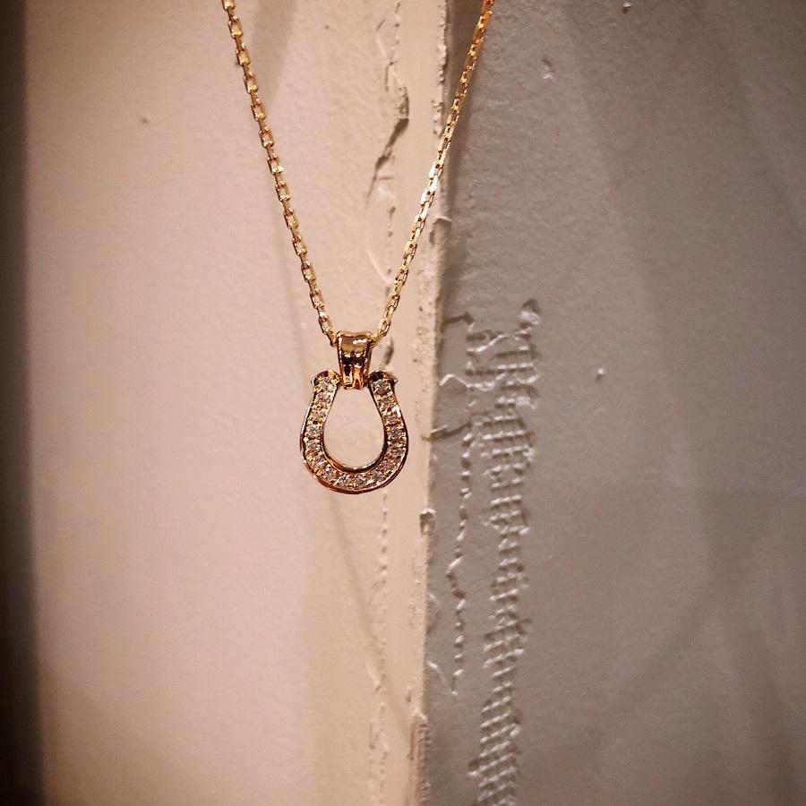 シンパシーオブソウル ホースシューラージペンダントK18イエローゴールド ダイヤモンド