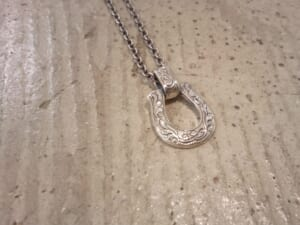 Large Horseshoe Carving Necklace