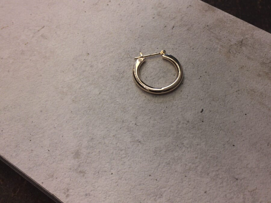 Plain Hoop Pierce K10 Yellow Gold