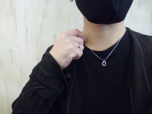 Horseshoe Amulet Necklace w/1 Diamond PARCO Limited