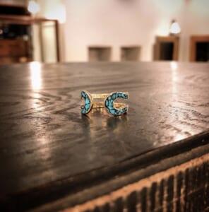 Double Horseshoe Ring TRQ