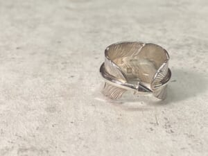 Arrow Feather Ring Silver