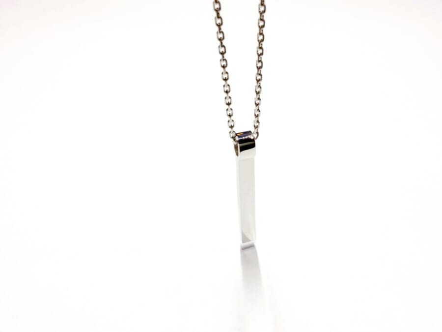 Rod Necklace Silver
